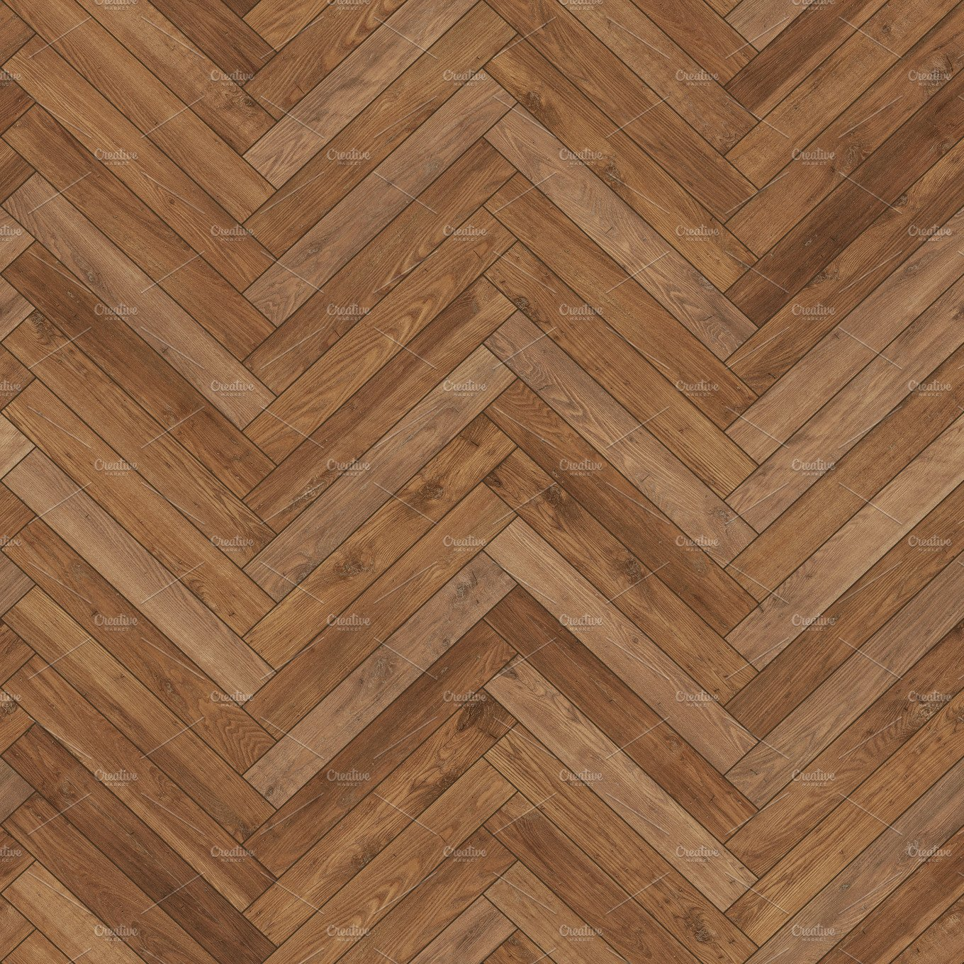 Seamless Wood Parquet Texture Herringbone Brown