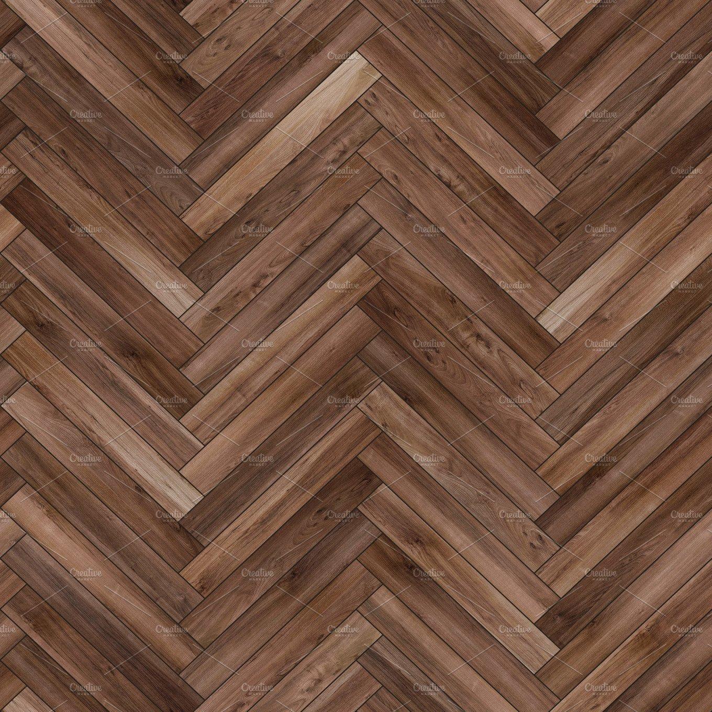 Seamless wood parquet texture (herringbone brown) ~ Textures ~ Creative Market