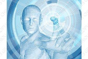 Future technology 3D app concept