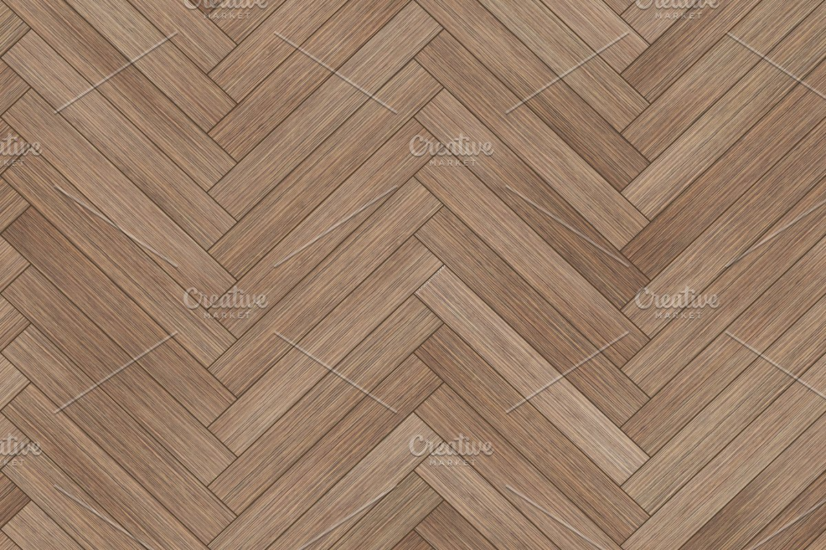 Seamless Wood Parquet Texture Herringbone Brown Textures