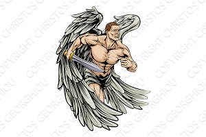 Warrior angel mascot