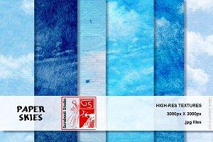 Paper Skies - 6 Textures
