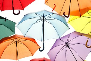 Multicolored umbrellas