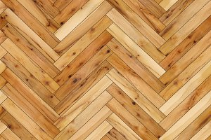 Seamless wood parquet texture (herringbone light brown)