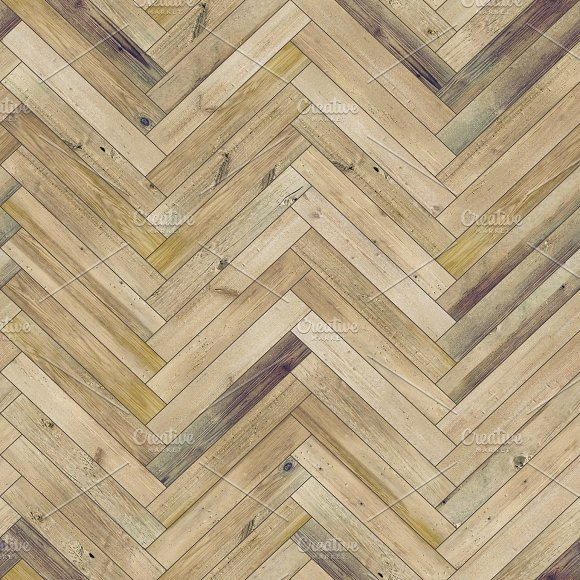Seamless wood parquet texture (herringbone light brown)