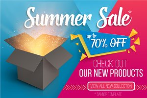 Summer Sale Vector Banner Pack