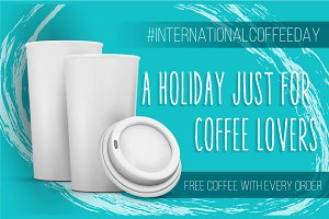 International Coffee Day Banner Pack