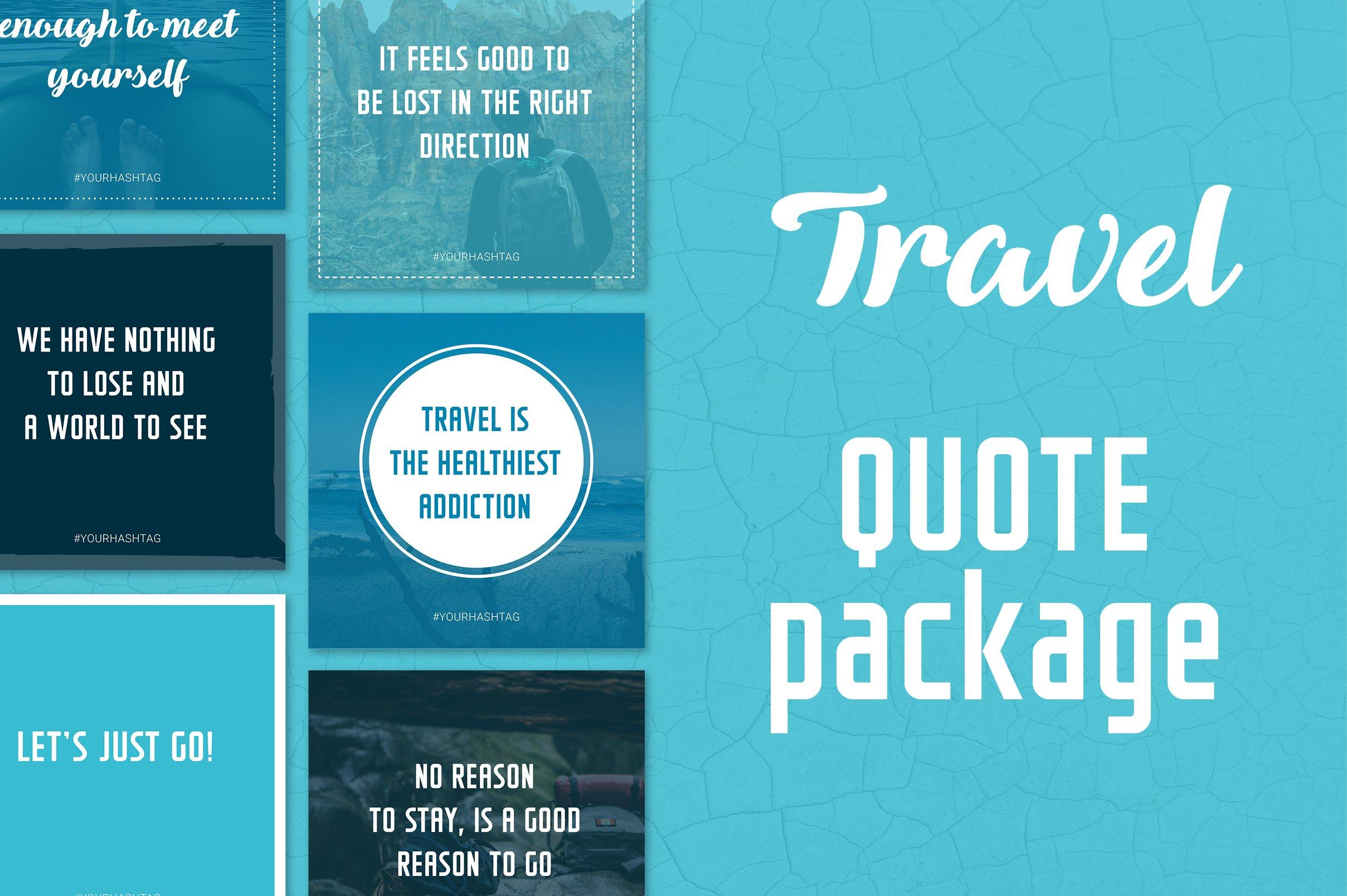 Social Media Quotes Travel Creative Instagram Templates