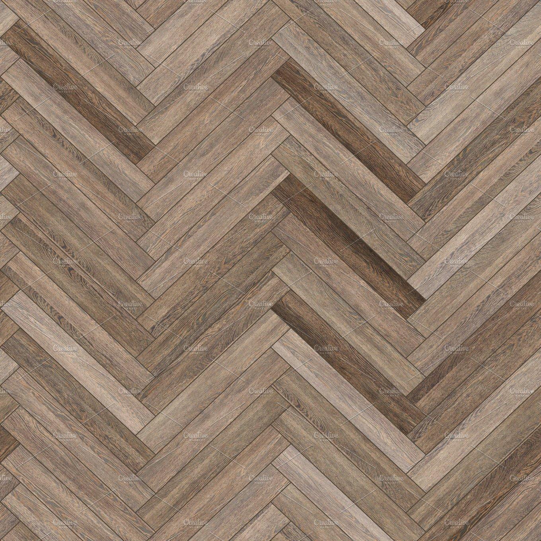 Seamless Wood Parquet Texture Herringbone Neutral