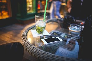 Chill-out with Mojito in Irish Cafe