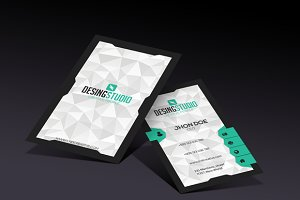 Design studio modern business card