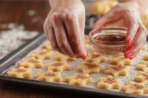 Christmas baking dough