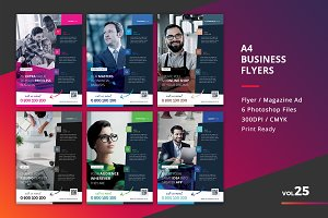 Corporate Flyer Templates 6PSD - #25