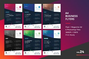 Corporate Flyer Templates 6PSD - #24