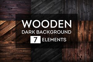 Dark wooden backgrounds bundle #1