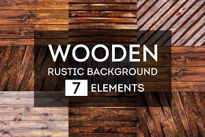 Rustic wooden backgrounds bundle #2