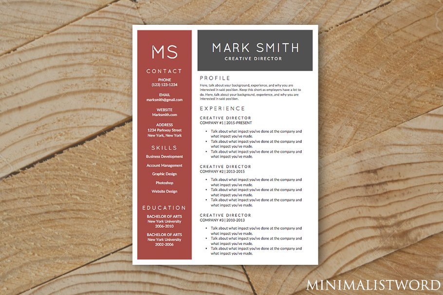 Red Black Resume Template