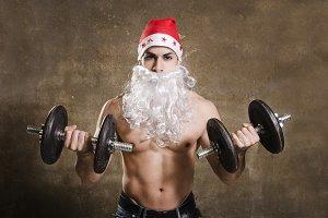 Fitness santa work biceps