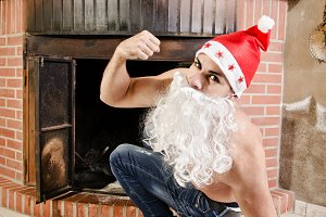 Fitness santa punch