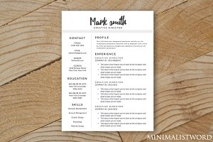 Elegant Resume Template - MS Word