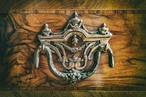 Antique wardrobe handle