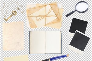 real photos of scrapbooking elements
