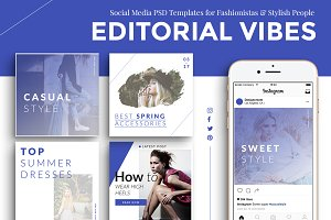 Editorial Fashion Social Media Pack