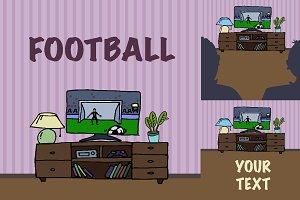 TV watching football