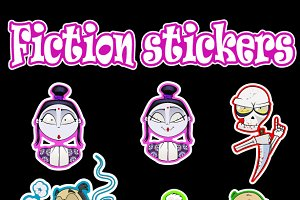 Cartoon oriental stickers