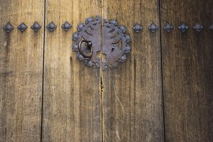 old style asian door
