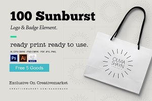 Sunburst Logo & Badge Element