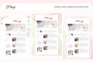 Posy Single Page Website PSD