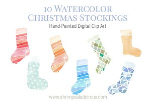 Watercolor Christmas Stockings