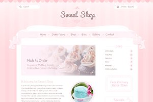 Sweet Shop Website Design PSD