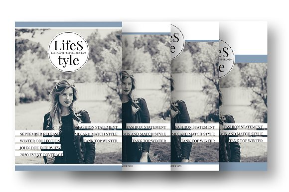 LifeS tyle - A4 Cover Template