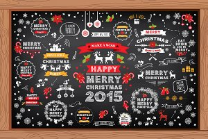 Christmas elements for design