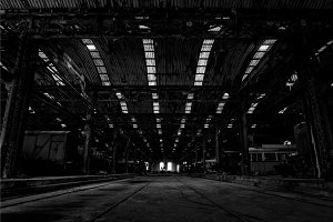 Large industrial hall
