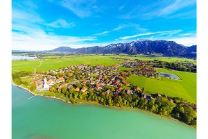 Aerial Landscape In Bavaria, Germany