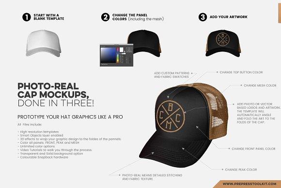 c89b2519e04 CAP MASTER STUDIO - Mockup Bundle ~ Product Mockups ~ Creative Market