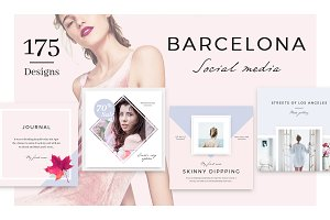 Barcelona: 175 SocialMedia Designs
