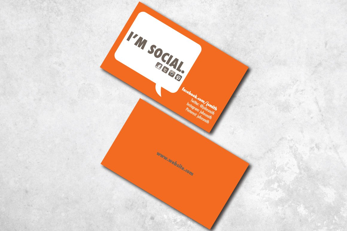 Im social business card business card templates creative market cheaphphosting Image collections