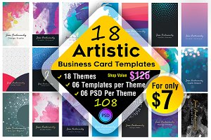 18 Artistic Business Card Bundle !!!