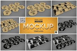 Paper Coaster Mockup