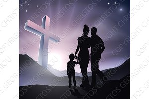 Easter Christian Cross Family