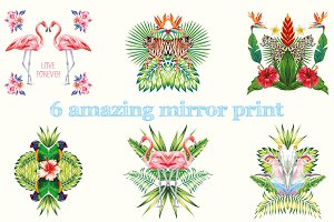 Mirror tropical print vol.2