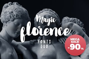 90% Off. Florence Brush Font