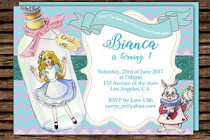 DIY Wonderland Printable Invitation