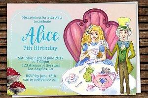 DIY Wonderland Printable Invitation