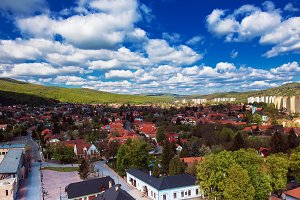 View to the Miskolc city