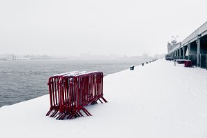 Embankment in the Snow